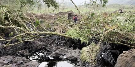 Comunidades reportan hallazgos de nuevo derrame en Napo / Foto: EFE