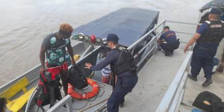 La Cancillería registra migración irregular por Nuevo Rocafuerte / Foto: cortesía Armada de Ecuador