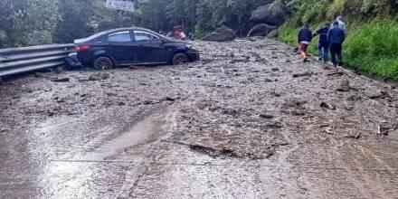 Autoridades confirman desaparecidos tras deslizamientos en la vía Loja-Zamora / Foto: cortesía ECU-911