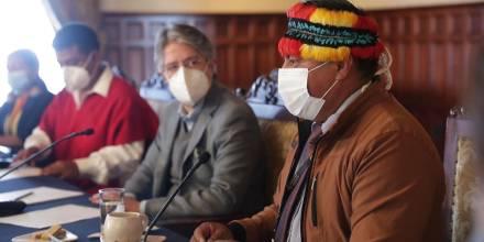 El gobierno dialoga con la comunidad shuar / Foto: cortesía Twitter Guillermo Lasso