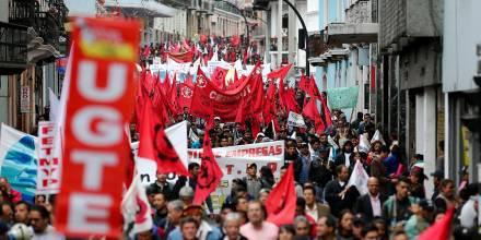 Movilización sindical y social contra Lasso fue convocada para el 26 de octubre / Foto: EFE