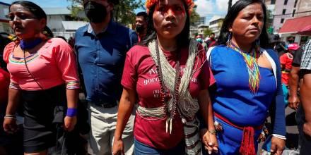 Indígenas van a la Corte Constitucional para suspender planes extractivos en la Amazonía / Foto: EFE