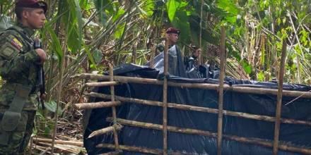 El Ejército localizó una piscina ilegal en Aguarico / Foto: cortesía Ejército
