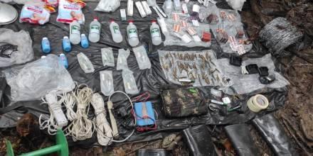 El Ejército encontró otra base clandestina en Sucumbíos en menos de una semana / Foto: cortesía Ejercito