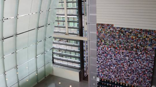 The Journalists Memorial at the Newseum holds the names of press professionals who were killed while working. Photo: Knight Center