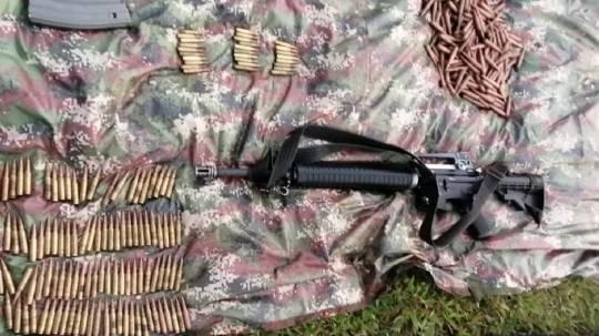 Alarma en Sucumbíos por grupo irregular Comandos de Frontera / Foto: Fuerzas Armadas