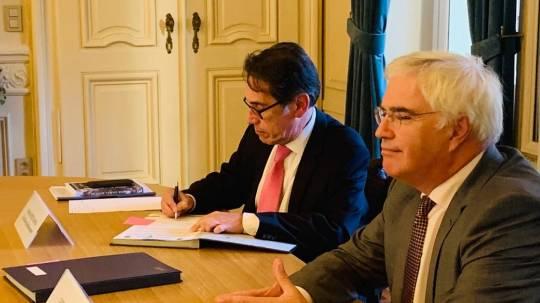 Ecuador suscribe acuerdo de cooperación marina / Cortesía de la Cancillería
