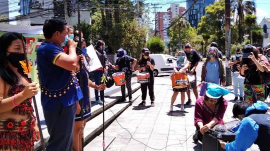 Kichwas protestaron en Quito por derrame del 7 de abril / Foto: El Oriente