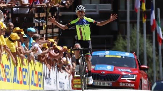 El 25 de agosto, Alexander Cepeda se llevó la última etapa del Tour de l'Avenir. - Foto: Tour de l'Avenir