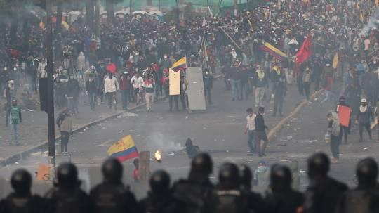 Se cumple primer aniversario de los violentos disturbios / Foto: EFE