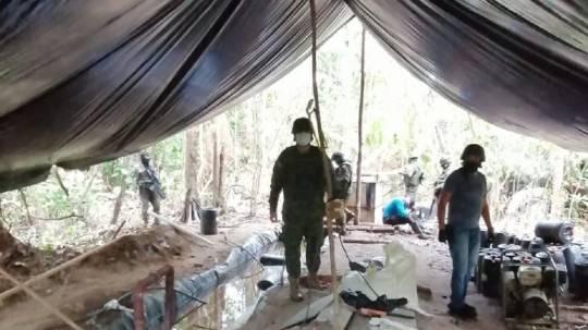 Las Fuerzas Armadas descubrieron laboratorio clandestino en Angostura / Cortesía de las Fuerzas Armadas