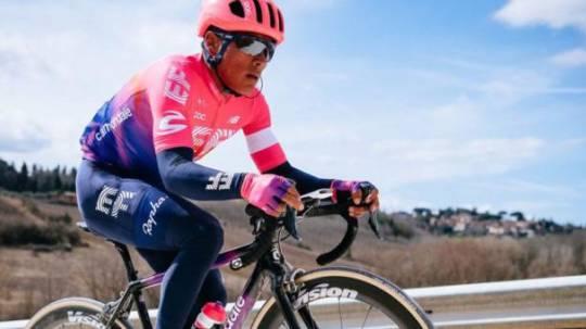 El ciclista Jonathan Caicedo participó este año en el Tour Colombia, con el equipo estadounidense EF.