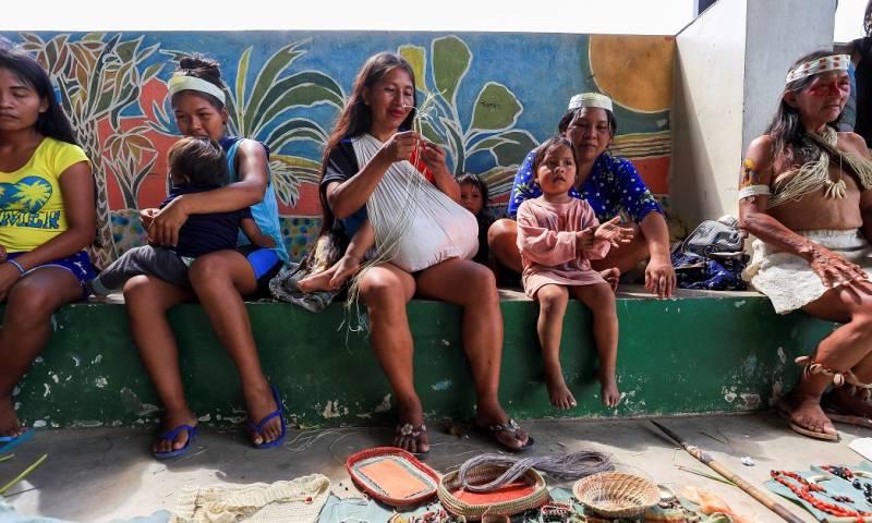 Indígenas alertan sobre su exclusión educativa en la Amazonía / Foto: EFE